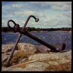 Old rusty anchor